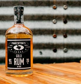 Gold Rum Bottle Pinkerton's Distilllery