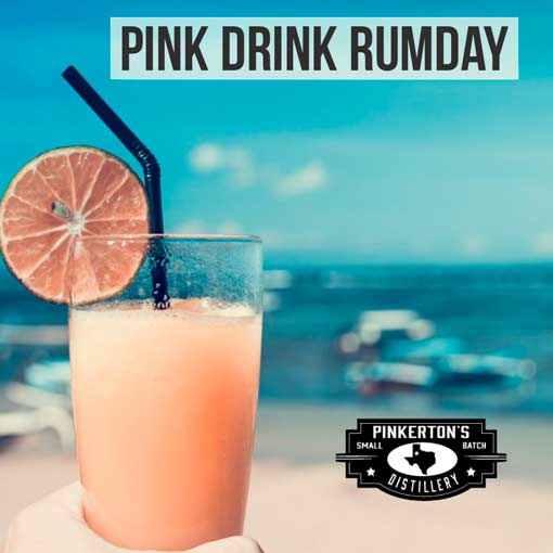 Pink Drink Rumday Cocktail Pinkertons Distillery