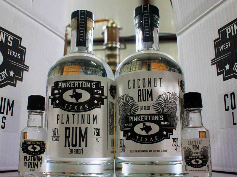 Our History continues with the addition of Pinkerton's Distillery Coconut Platinum rum bottle in the distillery