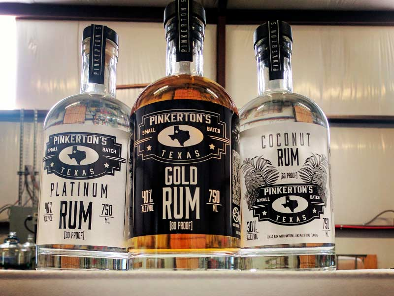 Our History continues with the addition of Pinkerton's Distillery Gold Rum bottle in the distillery
