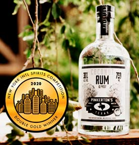 Coconut Rum Bottle 2020 Double Gold WinnerPinkerton's Distilllery